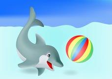海豚 皇族释放例证