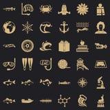 海象集合的探险家,简单的样式 皇族释放例证