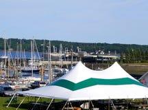 海边事件帐篷 库存图片