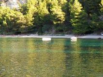 海边克罗地亚人海滩 免版税库存图片