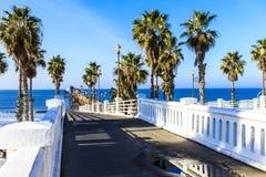 海边加利福尼亚码头 库存照片