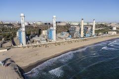 海边发电厂 免版税库存照片