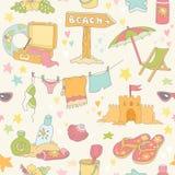 海边和夏天背景 库存图片
