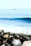 海边和石头 库存照片