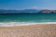 海边在巴斯卡,海岛Krk,克罗地亚 库存照片