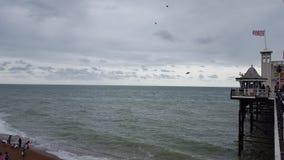 海边在布赖顿 库存图片