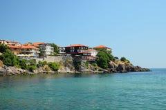 海边在索佐波尔,保加利亚 库存照片