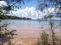 海边在Krabi泰国 库存照片