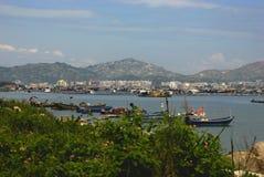 海边城市 免版税库存照片