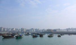 海边城镇 库存图片