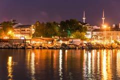 海边夏天城市风景-土耳其 免版税库存照片