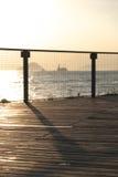 海边散步 库存照片