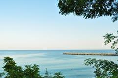 海边日落视图 免版税图库摄影