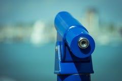 海边望远镜 库存图片