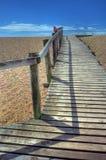 海边木板走道 库存图片