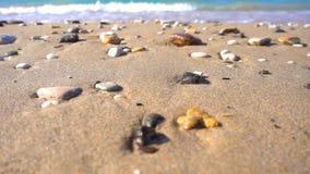 海边波浪和沙子 股票录像