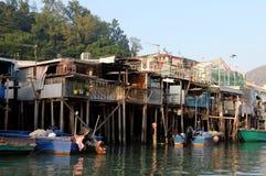 海边渔村 免版税库存照片