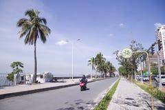 海边街道 库存照片
