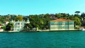 海边视图在伊斯坦布尔土耳其 股票录像