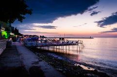 海边露天餐馆 库存照片