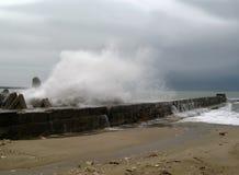 海边风暴冬天 库存照片