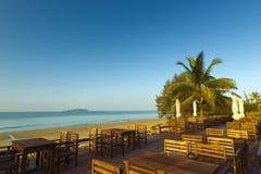 海边餐馆萨尼亚瓷 库存图片