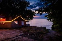 海边餐馆 库存照片