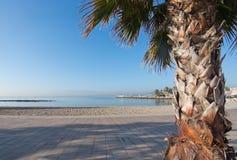 海边骑自行车的路线 库存照片