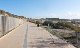 海边骑自行车的路线 库存图片