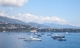海边,摩纳哥 免版税库存图片