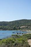 海边,撒丁岛,意大利 免版税图库摄影