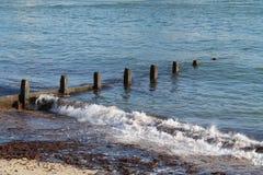 海边Groyne 免版税库存照片