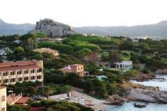 海边landscape& x28; 撒丁岛,巴哈Sardinia& x29; 免版税库存照片