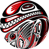 海达族人样式纹身花刺设计 图库摄影