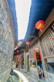 海达族Tulou繁体中文住房在中国的福建 图库摄影