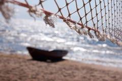 海运和小船的网络 免版税库存照片