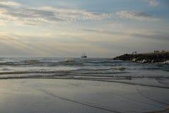 海运和小船 库存照片