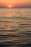 海运和日落 库存照片