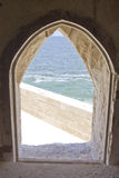 海运在石视窗里 免版税图库摄影