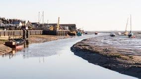 海运小河的Leigh 免版税库存图片