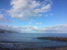 海运横向 云彩包括天空 图库摄影