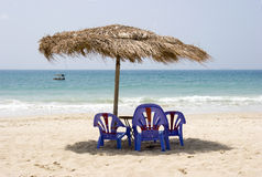 海运海滩 免版税库存照片