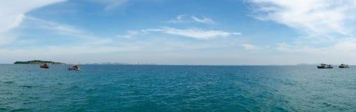 海运的全景 免版税图库摄影