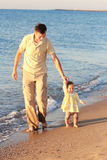 海运的父亲和女儿 免版税图库摄影