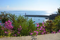 海运的美丽的景色 免版税库存照片