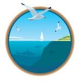 海运的美丽的景色 免版税库存图片