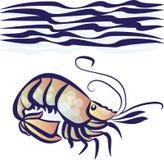 海运虾 库存照片