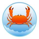 海运螃蟹 皇族释放例证