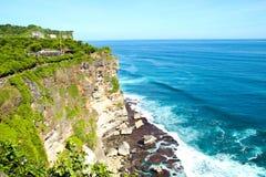 海运视图在巴厘岛,印度尼西亚。 免版税库存照片