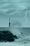 海运风暴 免版税库存照片